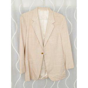 Vintage Custom Tailor Bespoke Tweed Blazer Jacket